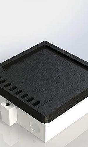 Caixa de alumínio para piso