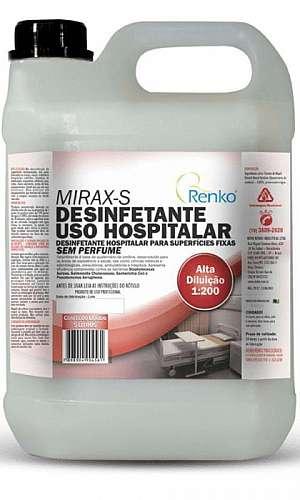 Desinfetante uso hospitalar