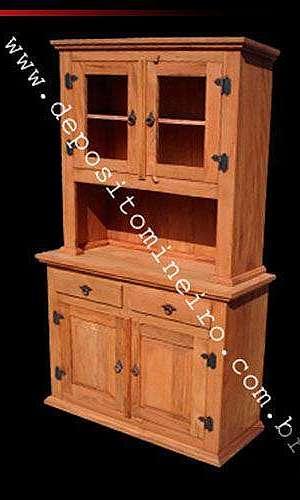 Guarda louça de madeira