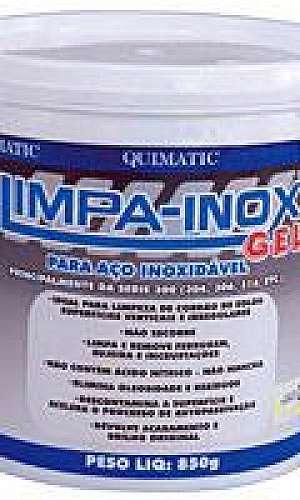 Limpa inox gel remove ferrugem