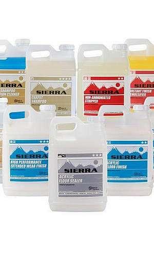 Rótulos de produtos de limpeza